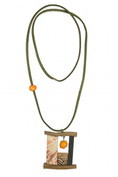 #CBAOBAO - Collier modèle BAOBAB Orange