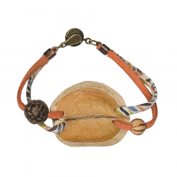 #BRACEJ2 - JACARANDA ORANGE ET BEIGE