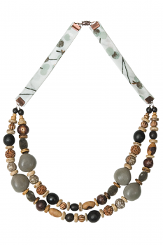 #CDOUMIG - Collier modèle DOUBLE MIX GRIS