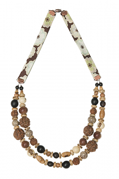 #CDOUMIC - Collier modèle DOUBLE MIX CARAMEL