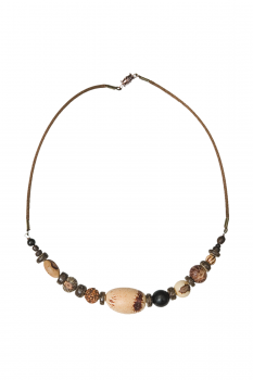 #CRCMIXM - Collier modèle RAS DE COU MIX MARRON