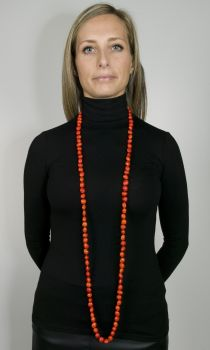 #CMALACO - Collier modèle MALA ORMOSIA Orange